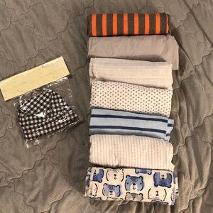 Receiving blanket LOT w/ hat